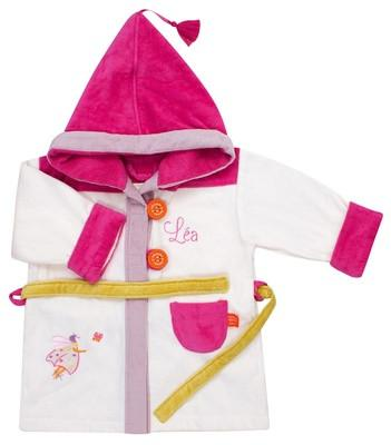 Personalized Ladybug Bathrobe Ecru 2/4 years - PetitePeople