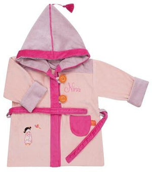 Personalized Tonkinese Bathrobe Pink 2/4 years - PetitePeople