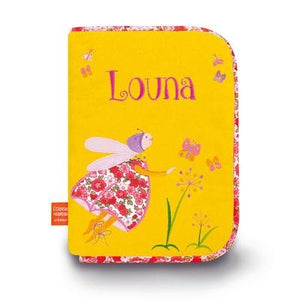 Personalized Embroidered Health Book Cover Butterflies - PetitePeople