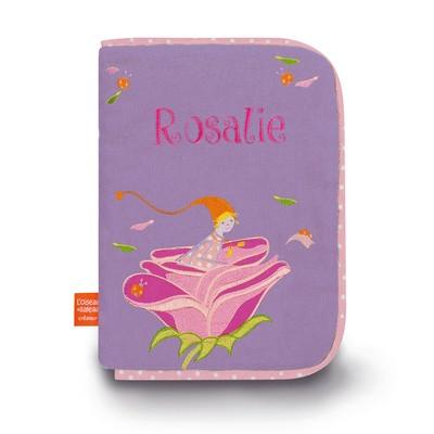 Personalized Embroidered Health Book Cover Rose - PetitePeople