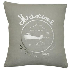 Personalized Linen Cushion Green - PetitePeople