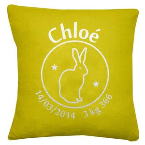 Personalized Linen Cushion Mustard Yellow - PetitePeople