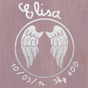 Personalized Linen Cushion Slate Grey - PetitePeople