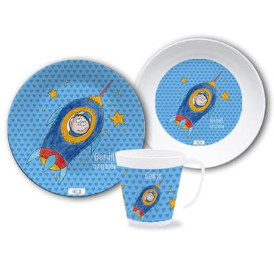 Personalised Dinnerware Plate Set Astronaut - PetitePeople
