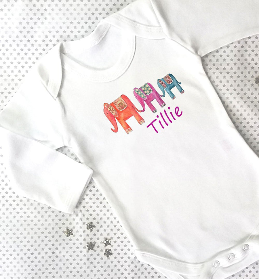 Personalised Bodysuit, Elephant