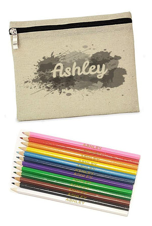 Pencil case with 22 colouring pencils - PetitePeople