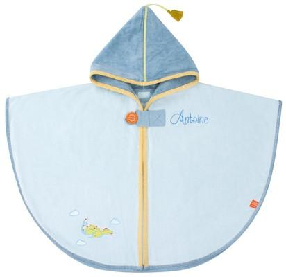 Personalised Blue Dragon Hooded Bath Towel - PetitePeople