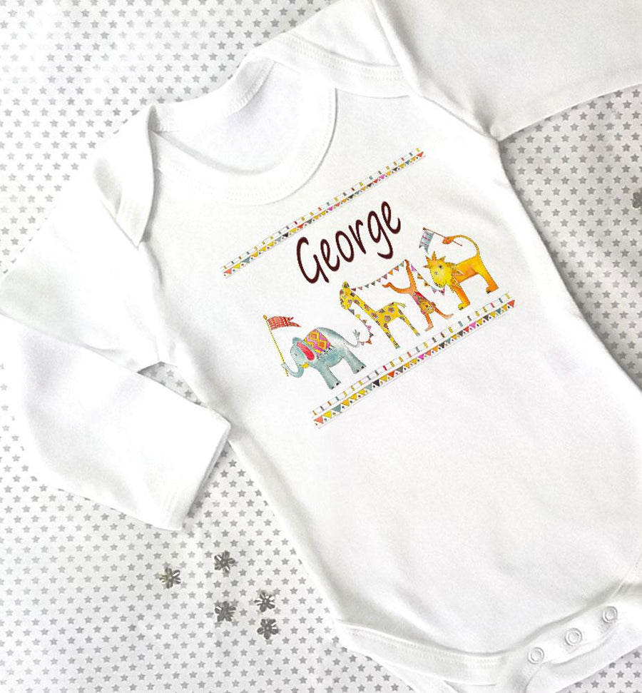 Jungle Parade Baby Grow