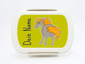 "Brotdose Deluxe ""Horse- the small farm"", with name - PetitePeople"