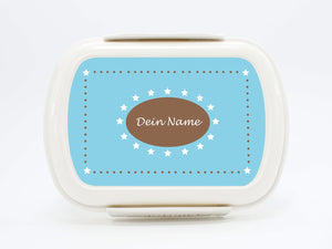 "Brotdose Deluxe ""stars in blue"", with names - PetitePeople"