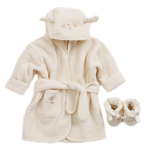 Natures Purest - organic baby bathrobe and slippers in the gift box - PetitePeople