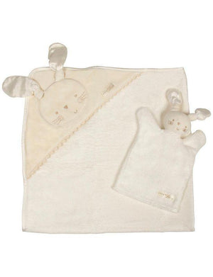 Natures Purest - organic personalised baby bathing towel in gift box - PetitePeople