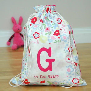 Girls Personalised Kit Bags Printed Name - PetitePeople