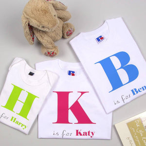 Children's Personalised Alphabet T Shirts - PetitePeople