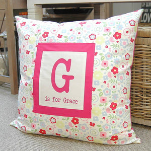 Giant name cushion with first letter - PetitePeople