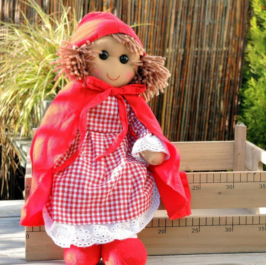 Personalised Little Red Riding Hood Ragdoll - PetitePeople