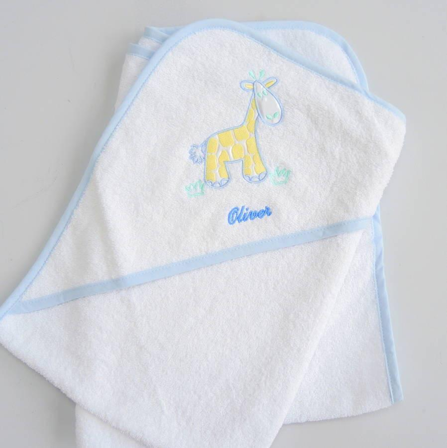 Owl and the pussycat Personalised Baby Hooded Towels - PetitePeople