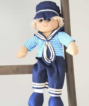 Personalised Sailor Boy Rag Doll - PetitePeople
