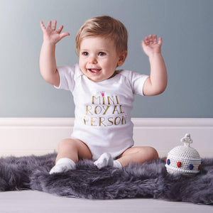 Royal Baby Vest - Mini Royal Person - PetitePeople