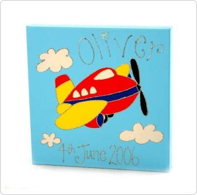 Personalised painting: Aeroplane - PetitePeople