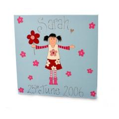 Personalised painting: Flower girl - PetitePeople