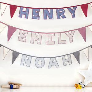 Handmade Personalised Letter Bunting