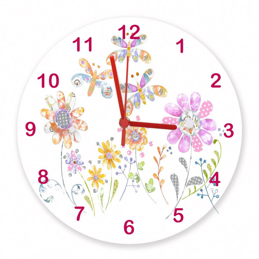 Summer Meadow Clock