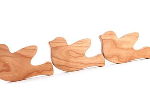 Personalized Wooden Peace Dove Rattle - PetitePeople