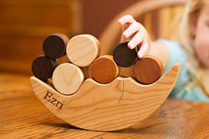 Personalized Wooden Smiling Moon Balancer - PetitePeople