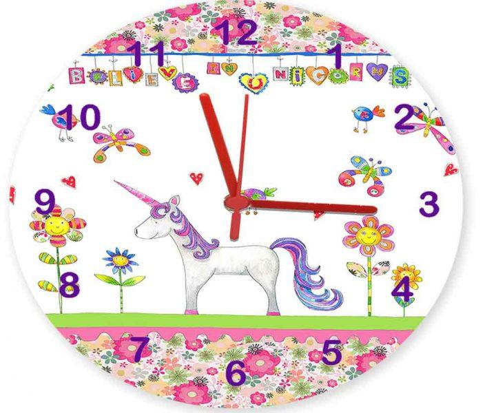 Unicorn Personalised Clocks