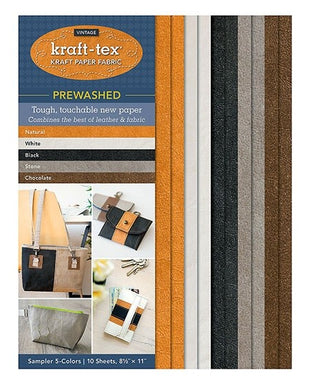 Kraft-Tex Vintage Sampler with 5 Colours (pre-washed)