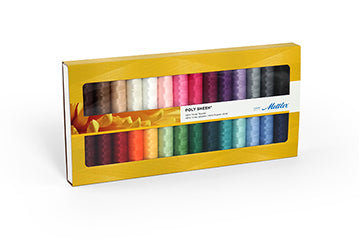 Mettler Embroidery Thread Gift Pack, 28 Colours