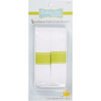 Fold Over Elastic: Solid White