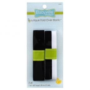 Fold Over Elastic: Black & White and Solid Black