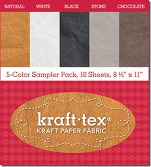 Kraft-Tex Vintage Sampler with 5 Colours (unwashed)