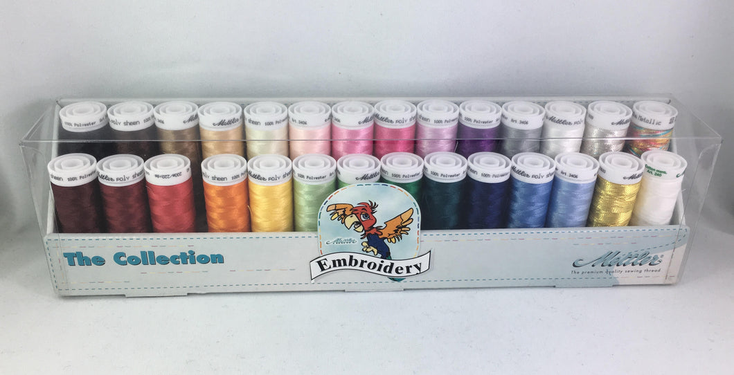 The Embroidery Collection - Mettler Thread Pack, 28 Colours