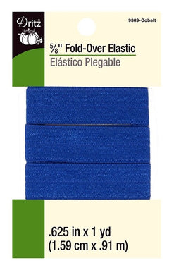 Fold-Over Elastic in Cobalt - 5/8