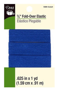 Fold-Over Elastic in Cobalt - 5/8""