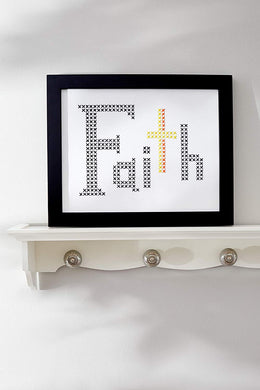Cross Stitch Kit - FAITH