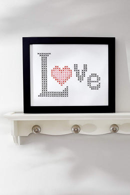 Cross Stitch Kit - LOVE