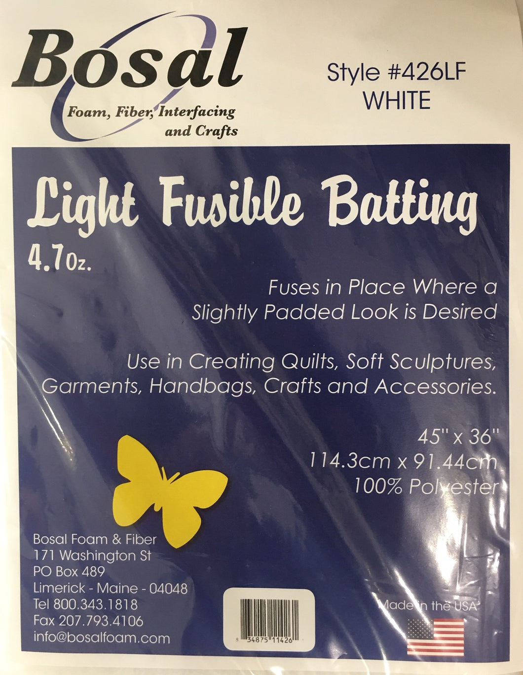 Single Sided Light Weight Fusible Batting