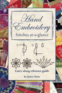Hand Embroidery Stitches At-A-Glance: Carry-Along Reference Guide (Pocket Guide)