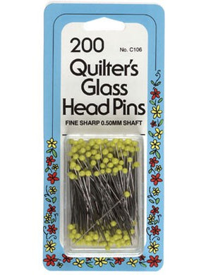 Glass Head Pins