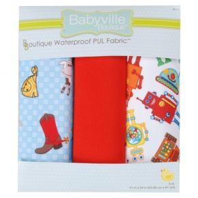 PUL Fabric Package: Cowbaby and Robots