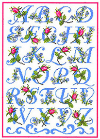 Duftin Lindner's Creativ-Set 'Rose Alphabet'