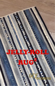 The RECTANGLE Jelly Roll Rug Pattern