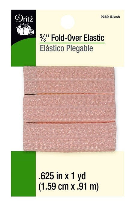 Fold-Over Elastic in Rose - 5/8