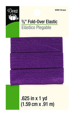 Fold-Over Elastic in Grape - 5/8