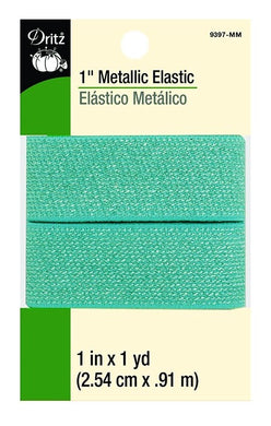 Metallic Waist Elastic in Mint - 1
