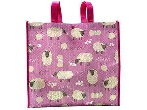 Stitch and Knit Sheep Reusable Tote